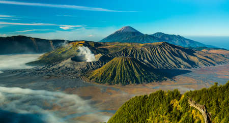 Bromo volcano during sunrise, East Java, Indonesia.