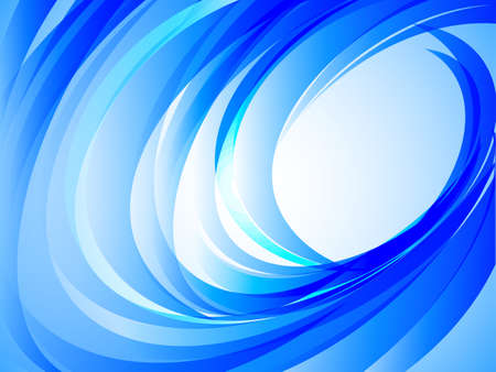 abstract blue curve background, vector illustration