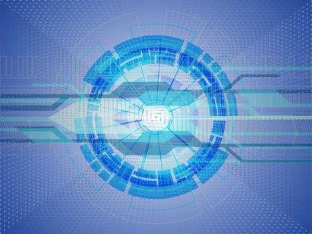 Abstract of futuristic innovation of digital technology, vector illustration Illustration