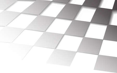 Estratto della priorità bassa bianca dell'ombra con il reticolo cubico, illustrazione di vettore Vettoriali