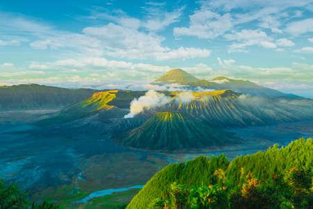 Bromo volcano at sunrise, Tengger Semeru National Park, East Java, Indonesia Standard-Bild