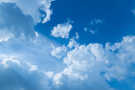 The nature of blue sky with cloud