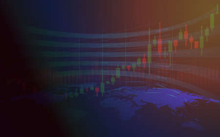 Stock market or forex trading graph in graphic concept suitable for financial investment or Economic trends business idea and all art work design. Abstract finance background. Illustration