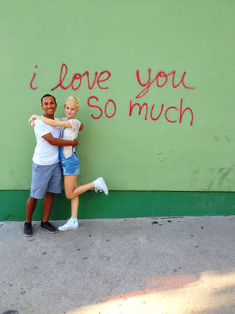 Famous I love you so much graffiti on SoCo in Austin TX