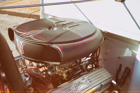 Intake Breather Black With Red And White Pinstriping Stock Photo Picture And Royalty Free Image Image 107623089