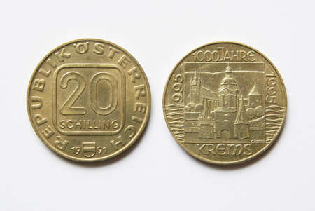 shilling: Old Austrian 20 Schilling coins (before Euro)