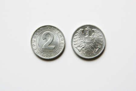 Old Austrian 2 Groschen coins (before Euro) Stock Photo - 5001518