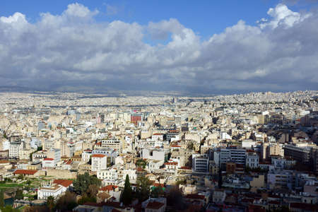 acropolis: View over Athens from the Acropolis Stock Photo