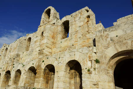 Exterior of the Odeon of Herodes Atticus in Athens