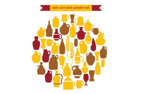 bier en wijn Growler set