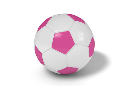 Realistic soccer ball or football balls on white background. 3D. Stock Photo