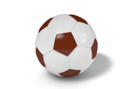 Realistic soccer ball or football balls on white background. 3D. Stok Fotoğraf