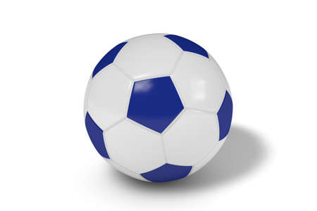 Realistic soccer ball or football balls on white background. 3D.