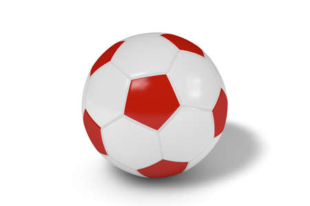 Realistic soccer ball or football balls on white background. 3D. Banque d'images