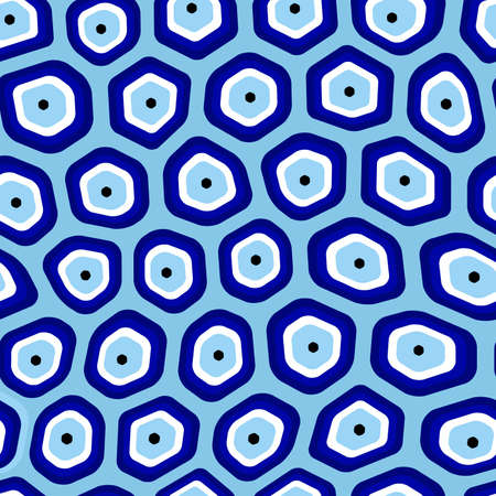 Organic cells seamless repetitive vector pattern
