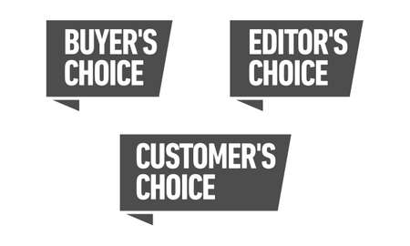 Set of three vector badges - editors choice, customers choice, buyers choice
