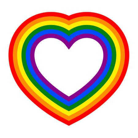 Colorful vector rainbow heart