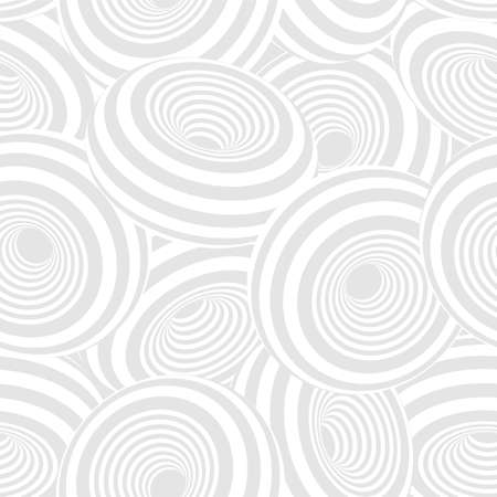 3d geometric striped donuts seamless repetitive vector pattern background