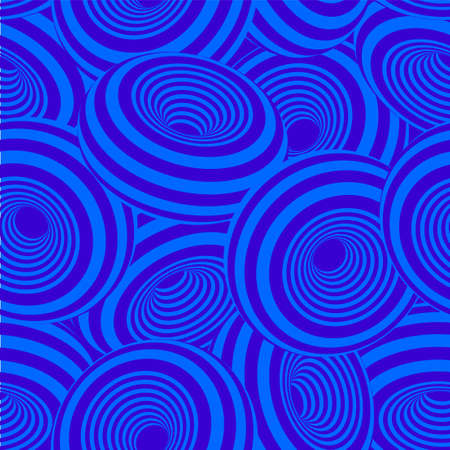 3d geometric striped donuts seamless repetitive vector pattern background  イラスト・ベクター素材
