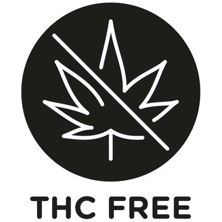 THC free icon on white background -  vector