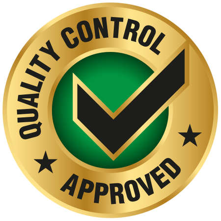 Quality Control Approved icon - Vector Çizim