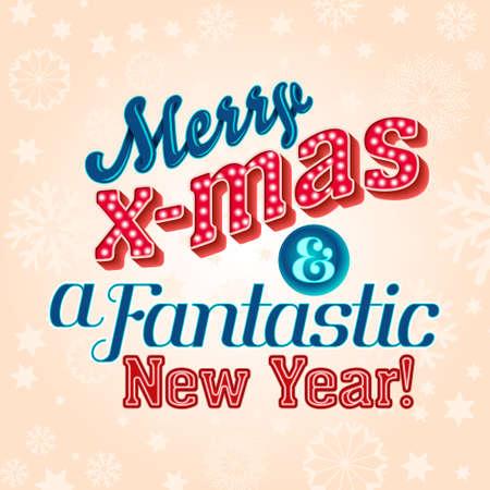 Christmas winter holidays vector greeting card 일러스트
