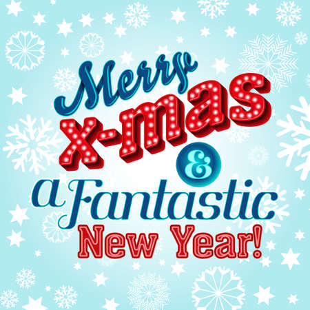Christmas winter holidays vector greeting card Illustration