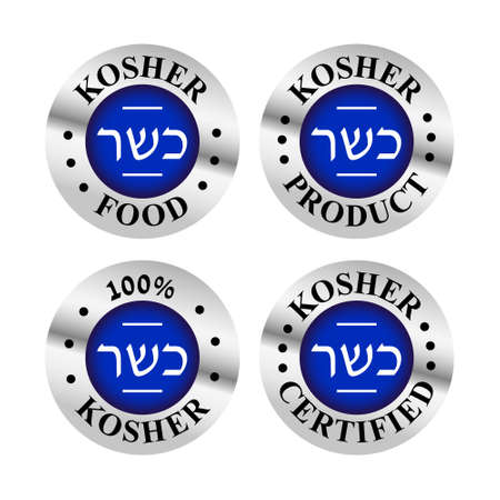 kosher food icon set Illustration