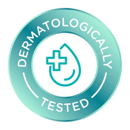 Dermatologically tested round isolated product icon