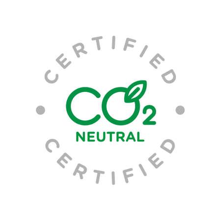 CO2 carbon emissions vector concept icon badge Vecteurs