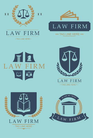 fermo: Law firm office icon illustrations