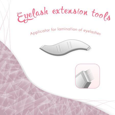 Isolated element applicator for lamination of eyelashes Ilustração