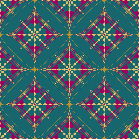 Seamless ornamental diamond shape pattern