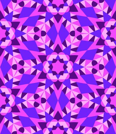 Seamless purple kaleidoscope pattern Illustration