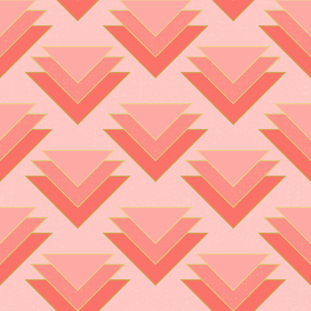 Seamless coral stacked triangles motif pattern