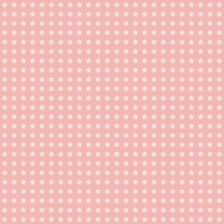 Seamless pattern of small white flowers on a pink background.