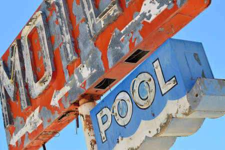 Vintage Motel and Pool Neon Sign