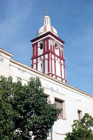 typical lookout tower in the old town of cadiz