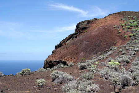 Volcanic mountain and seaview on the island of El Hierro