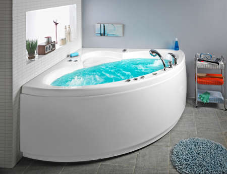 Whirlpool with water.