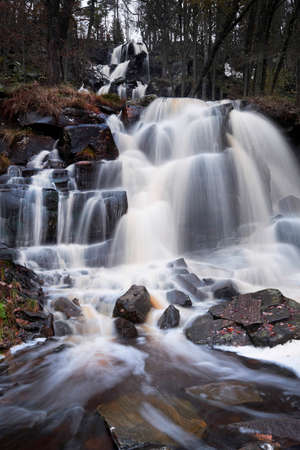 Beautiful waterfall in the forest. Stock fotó - 119420876