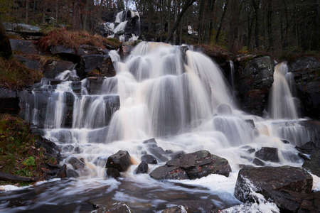 Beautiful waterfall in the forest. Stock fotó - 119420950