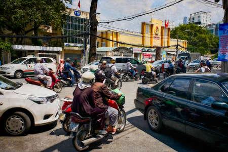City environment Ho Chi Minh Saigon, traffic. 에디토리얼