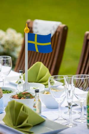 Midsummer celebration with food