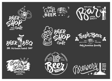 ale: Beer logotype set Illustration