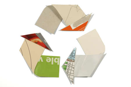 mobius loop: the Mobius Loop recycling symbol and recycled symbol Stock Photo