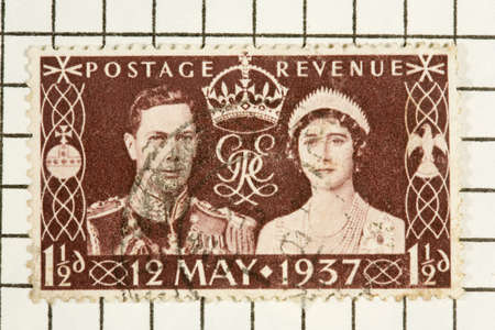 coronation: King George VI coronation stamp