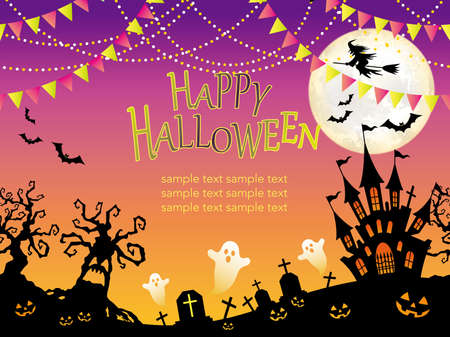 Happy Halloween illustration. Stock Illustratie