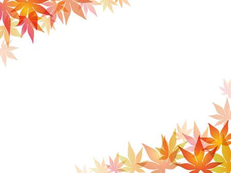 A maple leaf frame/background, vector illustration.