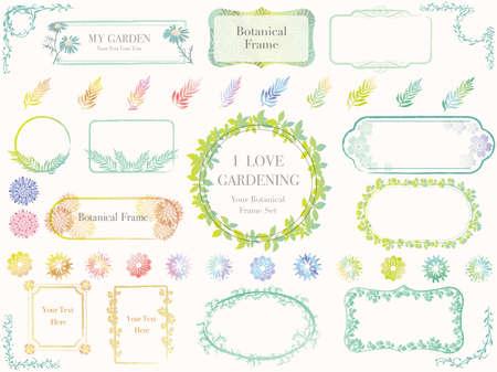 Botanical frames illustration.